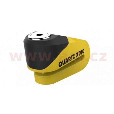zámek kotoučové brzdy Quartz XD10, OXFORD - Anglie (žlutý/černý, průměr čepu 10 mm)