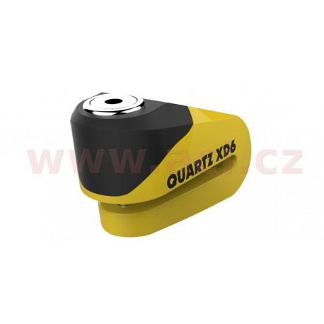 zámek kotoučové brzdy Quartz XD6, OXFORD - Anglie (černý/žlutý, průměr čepu 6 mm)