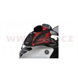 tankbag na motocykl M2R, OXFORD - Anglie (černý/červený, s magnetickou základnou, objem 2 l)