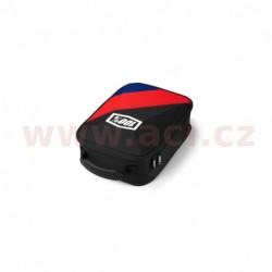 kufr na motokrosové brýle Cornestone, 100% - USA (černá/červená/modrá)