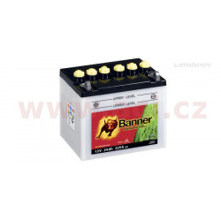 baterie 12V, 12N24-4, 24Ah, 225A, levá, BANNER GARDEN BULL 182x124x178