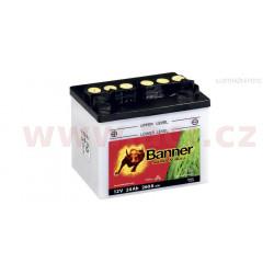 baterie 12V, U1-9, 24Ah, 260A, levá, BANNER GARDEN BULL 196x131x183