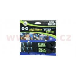 popruhy ROK straps HD nastavitelné a zesílené, OXFORD - Anglie (černá/modrá/zelená, šířka 25 mm, pár)
