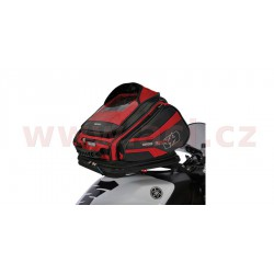tankbag na motocykl Q30R QR, OXFORD - Anglie (černý/červený, s rychloupínacím systémem na víčka nádrže, objem 30 l)