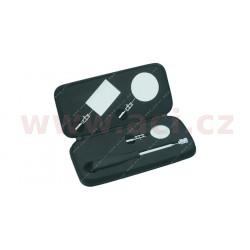 sada inspekčních zrcátek (kulaté 40 a 60 mm, hranaté 64x42 mm, rukojeť 170-660 mm